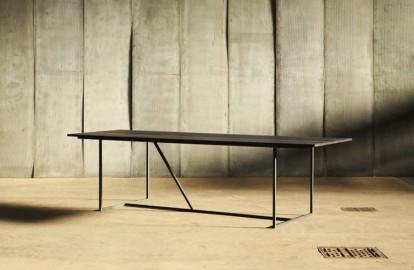 Dining Table W - Oak & Metal - 200 cm