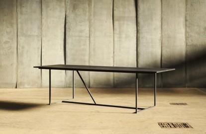 Table de repas Chêne & Métal W 200 cm