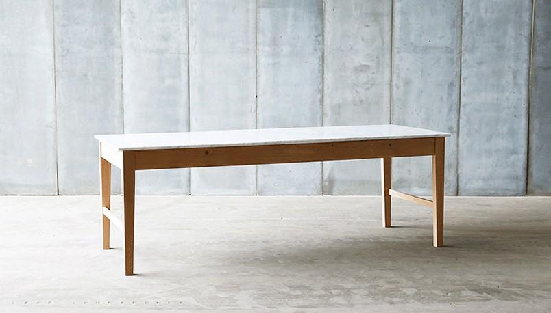 table en marbre, bois, chêne, cuisine, table contemporaine, table de ...
