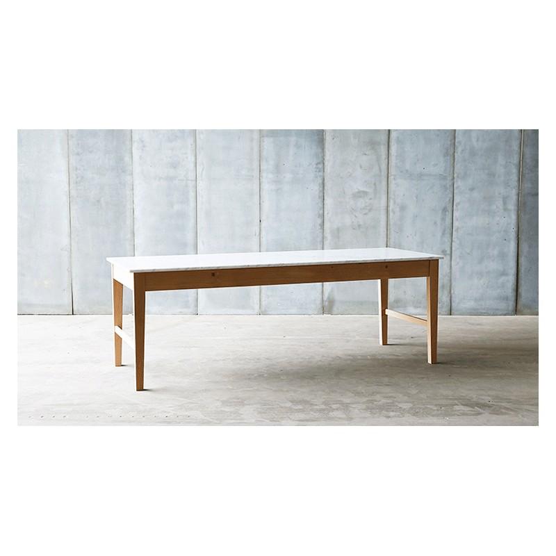 Table en marbre bois ch ne cuisine table contemporaine for Plaque marbre sur mesure
