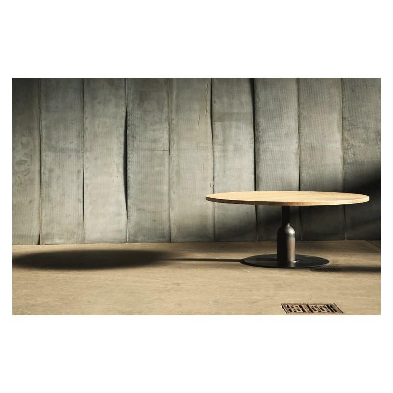 Superbe table ronde de style industriel r alis e for Table ronde 140 cm
