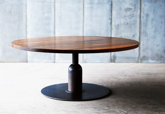 Table Insieme - Noyer - ∅ 180 cm