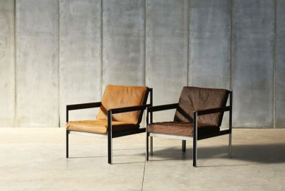 Andy Armchair - Oiled Cotton Fabric