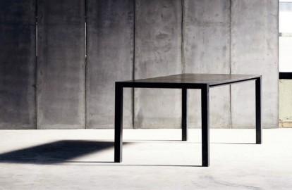 Table Diane Cuir & Métal Sur Commande