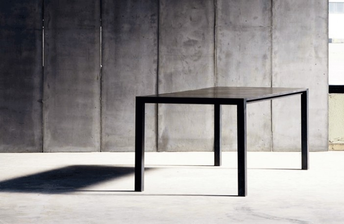 Diane Table, Leather & Metal 200 cm