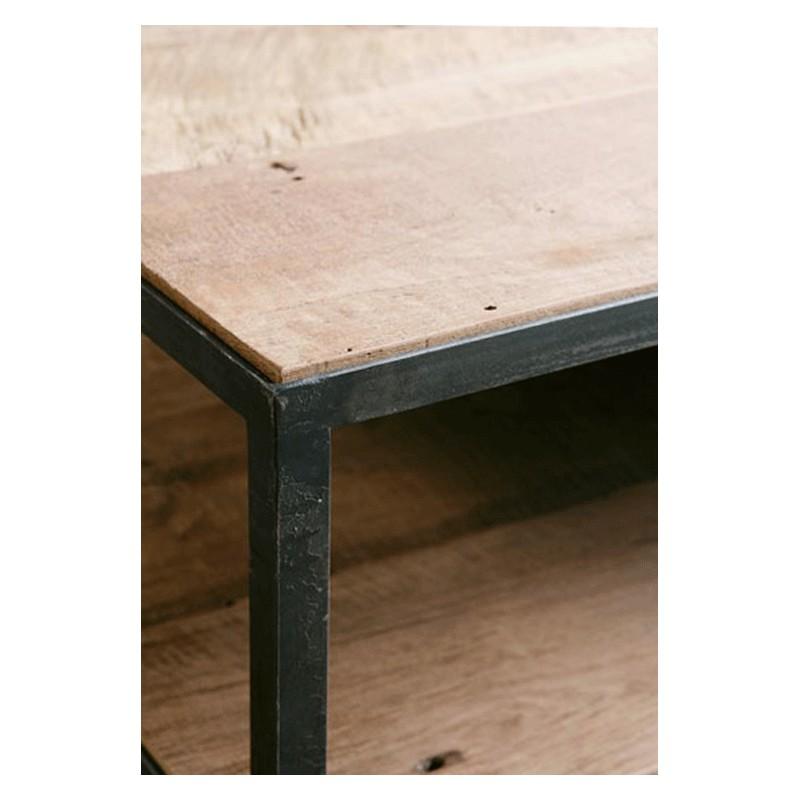 table basse square teck brut 100 cm arteslonga. Black Bedroom Furniture Sets. Home Design Ideas