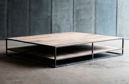 Table basse Square - Bois Brut - 150 cm