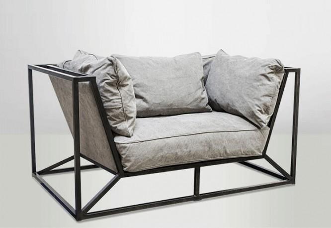 le fauteuil louvre gros fauteuil de salon moderniste aux lignes pur es. Black Bedroom Furniture Sets. Home Design Ideas