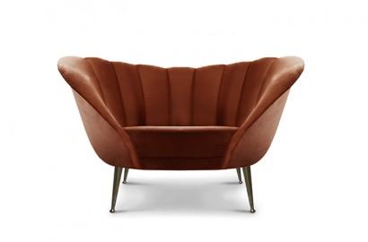 Arum Velvet Lounge Sofa, Price on Demand