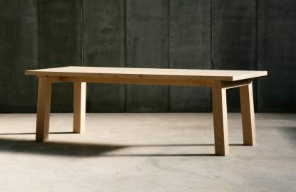 Table Chêne Massif Axiome 220 - Sur Commande