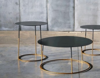 Table Basse Atole Gold - ∅ 70 cm