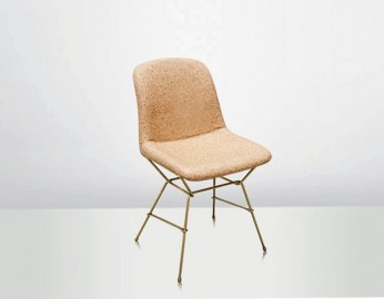 Eva Chair Cork Leather Gold