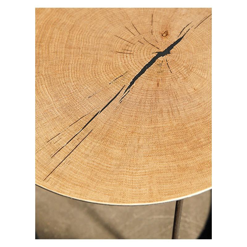 La table basse m tal atole ch ne 45 cm de style for Table basse 45 cm hauteur