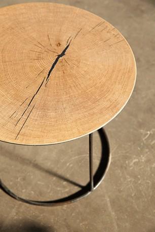 Table Basse Atole Chêne - ∅ 45 cm