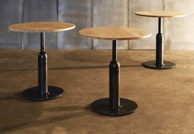"""Oak Round Table """"Piston"""" ø90cm"""