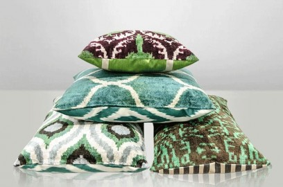 Coussin Ikat Velours 2