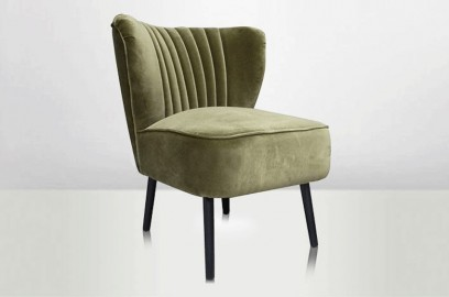 Lounge Armchair Molly - Lime