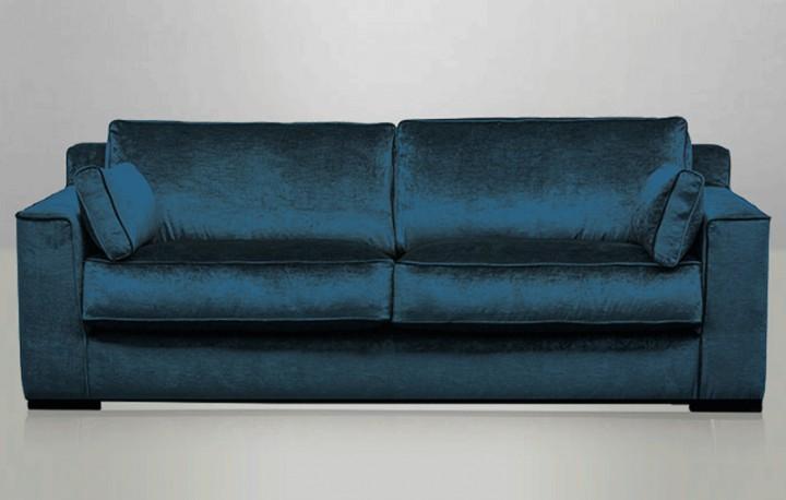 canap cosmo en velours bleu p trole recouvert la main en utilisant une belle qualit de velours. Black Bedroom Furniture Sets. Home Design Ideas