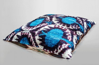 Coussin Ikat Velours 3