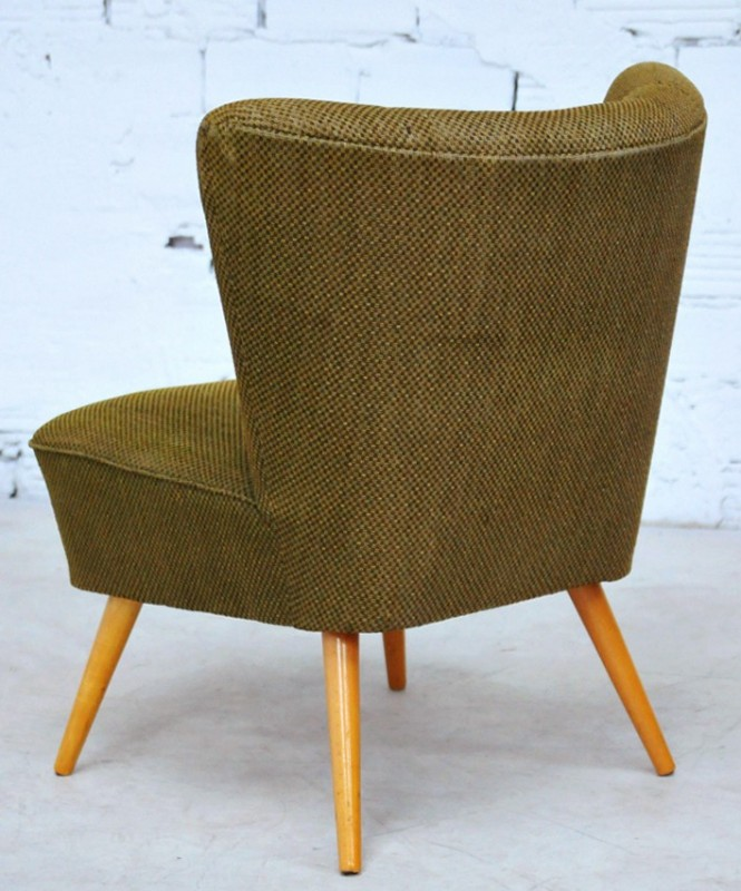 Vintage living room armchairs 50's. One armchair in green ...