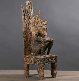Grande Statue Idole Timor - Trône 102 cm