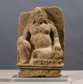 Statue Divinité Devî - Pierre