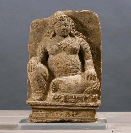 Statue Divinité Devi - Pierre