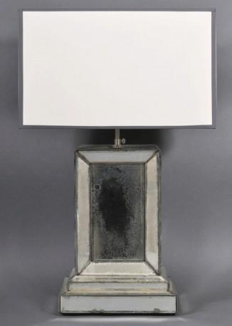 Pied de Lampe Miroir Oxydé