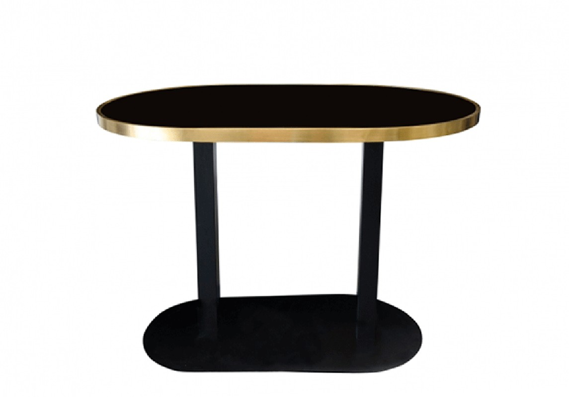 The Cabaret Oval Table Is An Elegant Modernist Style Oval Table Made