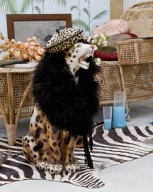 Vintage leopard statue 50's