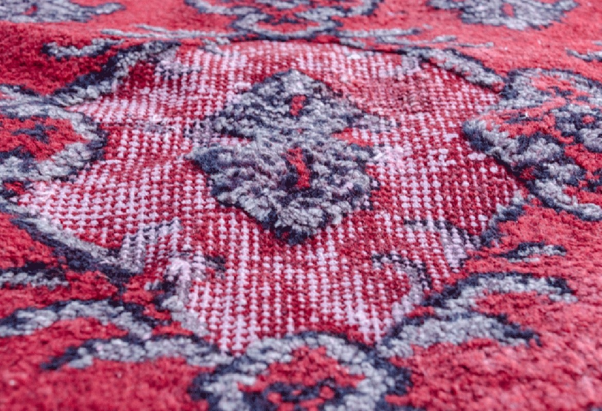 Large Vintage Anatolian Rug Hand Embossed A Remarkable