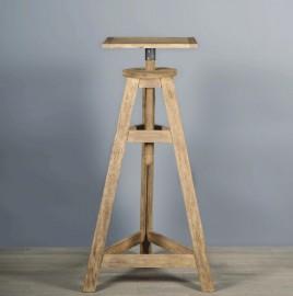 Sellette de Sculpteur en bois patiné