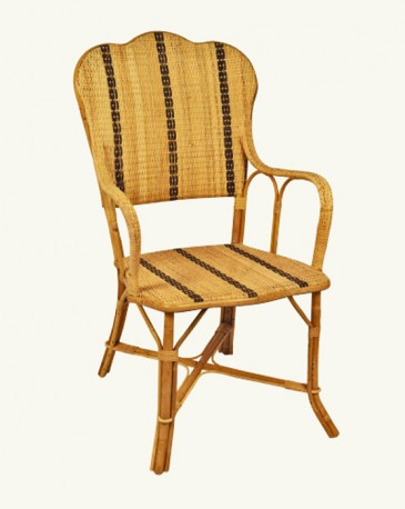Beautiful rattan armchair made of natural blade, a retro ...