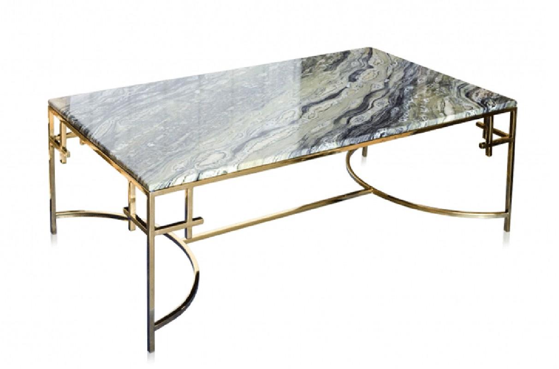 table basse moderne r alis e en marbre et acier inoxydable. Black Bedroom Furniture Sets. Home Design Ideas