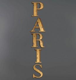 P A R I S - Lettres Dorées