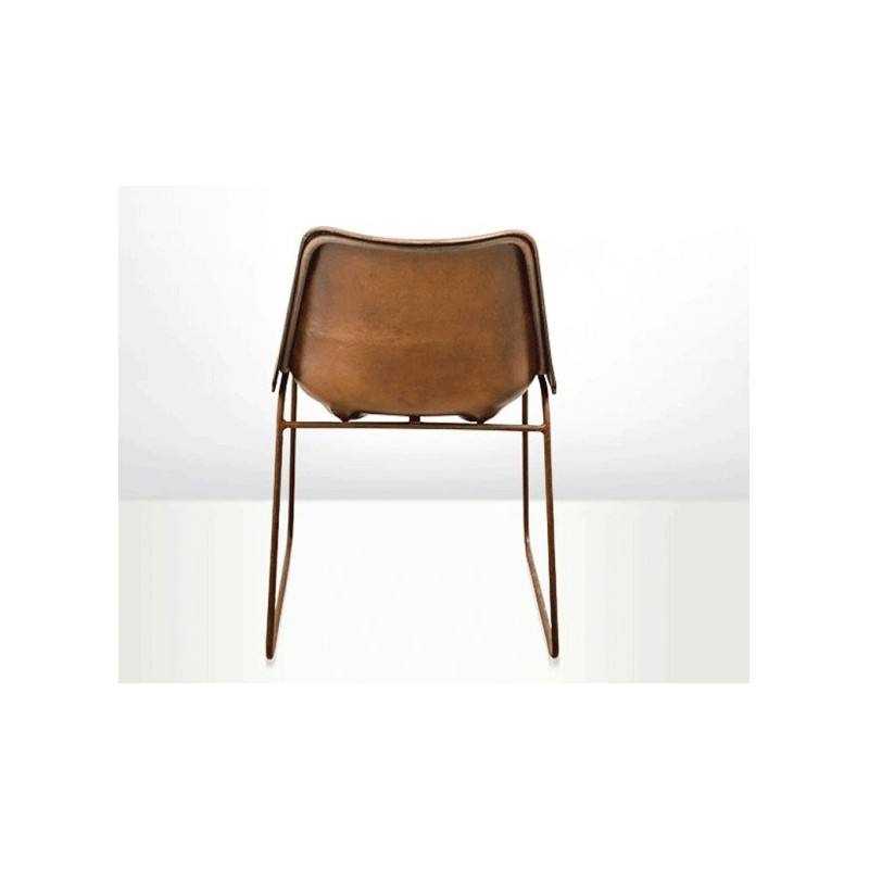 Eames chair vintage dining chair leather dining chair for Leather eames dining chair