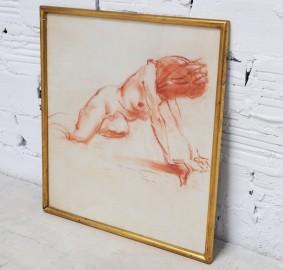 Nude female, sanguine - SOLD