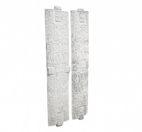 Bouclier Ethnique Sculpté Blanc - H185cm