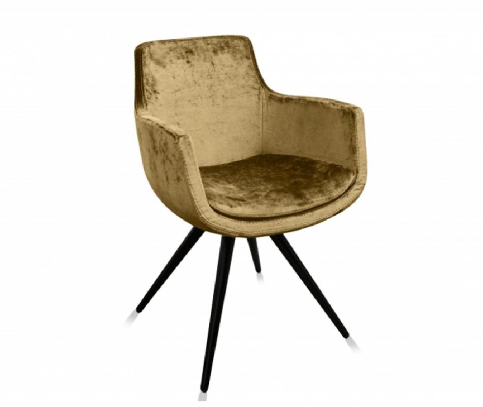 le fauteuil olson un design et un style pur jus ann es 50 avec sa belle assise en velours ras. Black Bedroom Furniture Sets. Home Design Ideas