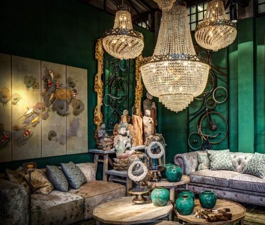 lustre montgolfiere en cristal sissi de 80cm de diam tre sur 120cm de hauteur. Black Bedroom Furniture Sets. Home Design Ideas