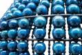 Suspension Perles Bois Indigo - ∅ 40cm