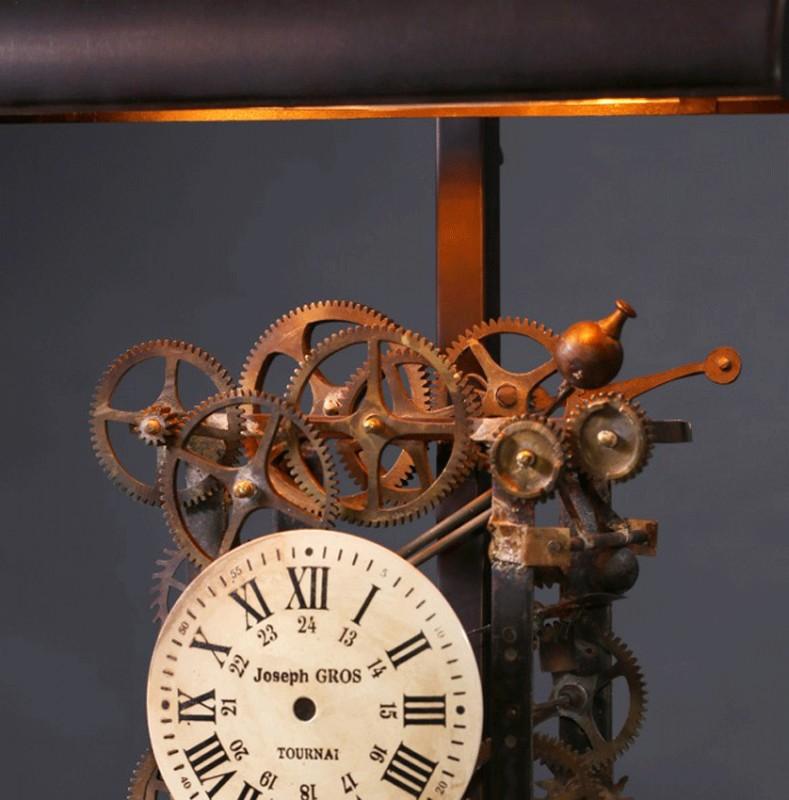 La lampe de bureau style industriel et rouages d for Lampe de bureau style industriel