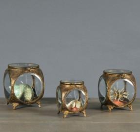 Round Jewelry Boxes - Napoleon III Style