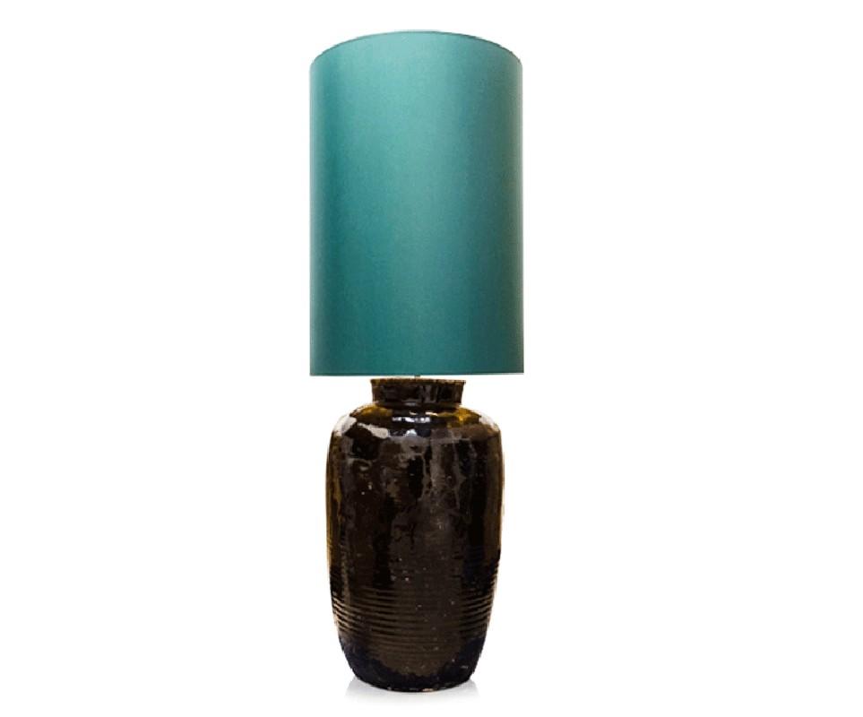 Lampe de salon artisanale en c ramique maill style 70s - Table pour lampe de salon ...