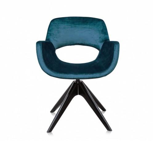 Le fauteuil betty en velours bleu p trole dans le plus pur - Fauteuil bleu petrole ...