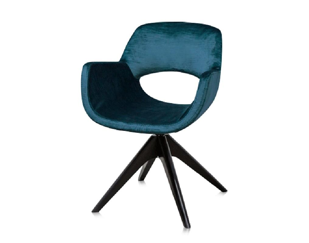le fauteuil betty en velours bleu p trole dans le plus pur style du design mid century ann es 50. Black Bedroom Furniture Sets. Home Design Ideas