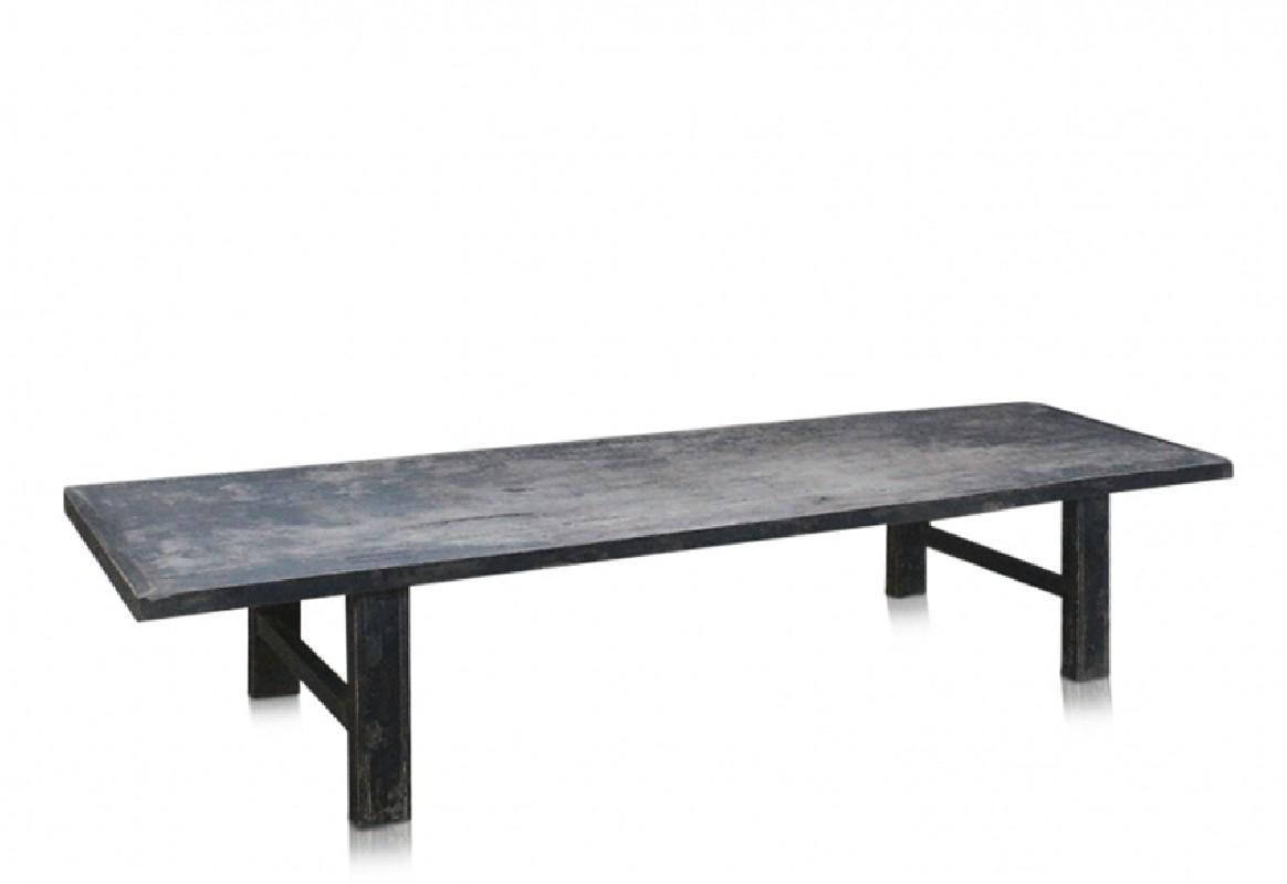 Grande Table basse vintage en noyer brut teinté, Belles ...