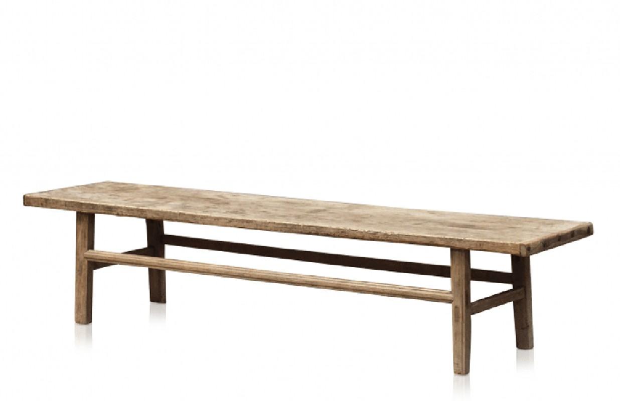 Table Basse Vintage En Orme Massif Brut Belles Veinures