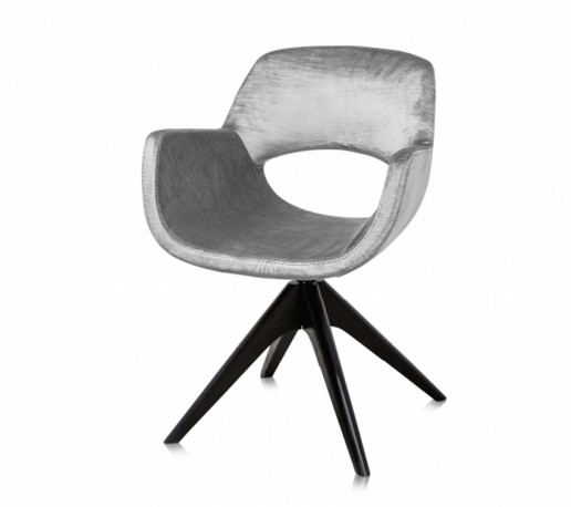 Fauteuil Betty - Velours Gris Perle