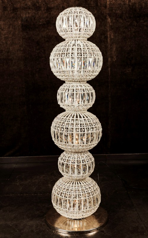 La lampe de sol constantine fait 128 cm de haut pour un - Table pour lampe de salon ...